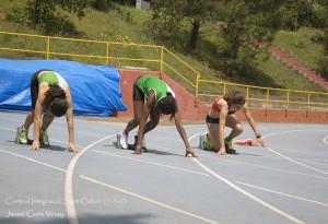 Imatge de Carla Gallego i Fanta Cise a la prova dels 100 m.l.