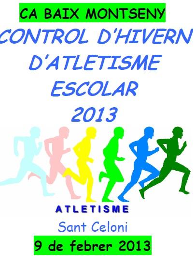 CONTROL D'HIVERN D'ATLETISME ESCOLAR EN PISTA