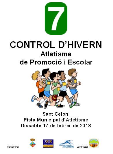 CONTROL D'HIVERN D'ATLETISME